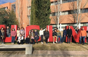 Los estudiantes chinos en el Campus Los estudiantes chinos en el Campus