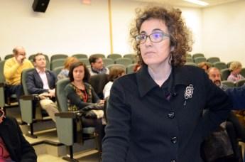 Ana Puy, instantes previos a su conferencia
