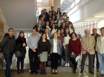 Fotografía de grupo en el Campus de Ciudad Real