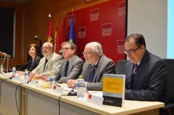 De izqda. a dcha: María Isabel Porras, Jorge Juan García, Miguel Ángel Collado, Juan Emilio Felíu y Francisco Javier Ruiz