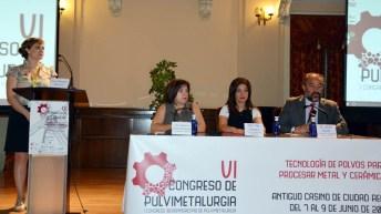 Inauguración del VI Congreso Nacional y I Iberoamericano de Pulvimetalurgia