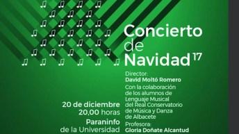 Fragmento del cartel del Concierto de Navidad en el Campus de Albacete