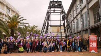 Acto reivindicativo de los estudiantes de la UCLM en el Día Internacional de la Mujer (Almadén)