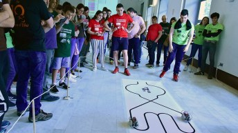 El torneo se disputó en las categorías de robots de sumo y sigue-líneas. © Gabinete de Comunicación UCLM