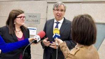 Teresa Riesgo y Juan Carlos López abrieron el encuentro del proyecto ClusterFY © Gabinete de Comunicación UCLM