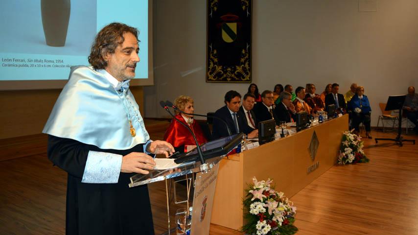 Resultado de imagen de imagen jose antonio sanchez inauguracion curso universitario uclm