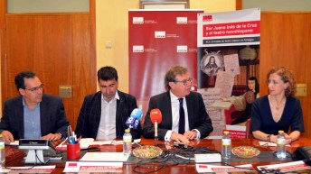 De izq. a der.: Rafael González Cañal, Ignacio García, Miguel Ángel Collado y Almudena García © Gabinete de Comunicación UCLM.