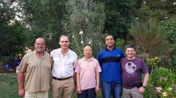 El doctor Chunyi Li en Albacete con miembros del grupo de investigación de la UCLM y del CHUA © Gabinete de Comunicación UCLM