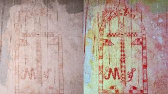 Grabados descubiertos en el molino de Pingazorras