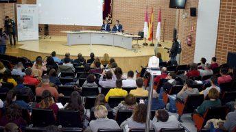 Jorge Garbajosa visita la Semana del Empleo de la UCLM © Gabinete de Comunicación UCLM