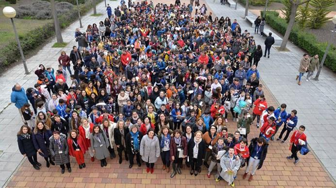 Alumnos de Educación Primaria conocer el trabajo investigador de las científicas de Ciudad Real. © Gabinete de Comunicación UCLM