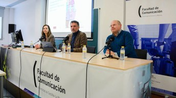 La conferencia ha tenido lugar en la Facultad de Comunicación. © Gabinete de Comunicación UCLM