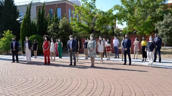 El rector ha presidido el acto de reconocimiento a los alumnos con mejores expedientes de la EvAU. © Gabinete de Comunicación UCLM