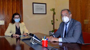 El encuentro entre responsables de la UCLM y ANECA ha tenido lugar en el Rectorado. © Gabinete de Comunicación UCLM