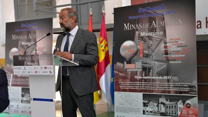 Las minas de Almadén reciben el sello internacional de Sitio Histórico para la Química, concedido por la EuChems. © Gabinete de Comunicación UCLM