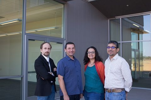 Professors Stefano Carpin, Christopher Kello, Suzanne Sindi and Ramesh Balasubramaniam (from left) are just a few of the faculty members who will be involved in training graduate students through two new grants.