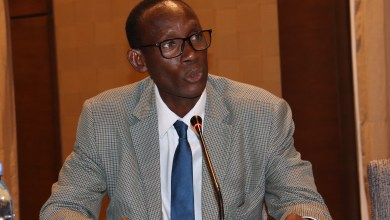 """Photo of Rector of the USTTB , Prof. Ouateni Diallo at the 12th conference of the AfSHG conference: """"Through these conferences, you contribute to the development of humanity…"""""""