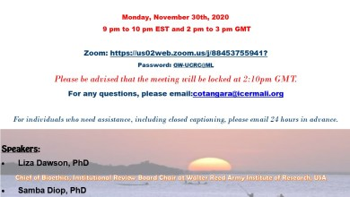 Photo of Invitation to attend to UCRC BIG WEBINAR on ETHICAL ISSUES URING CRISIS