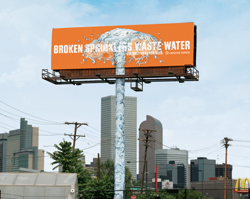 Creative Outdoor Advertisement Design - Denver Water