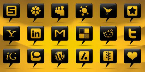 Comment Bubble Social Networking Icons