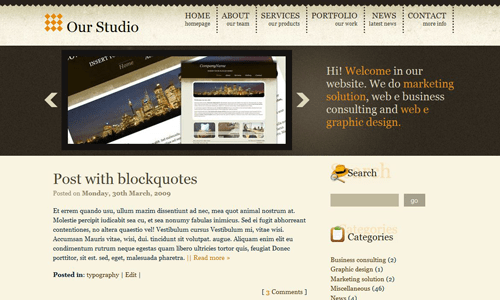 Corporate WordPress Themes - Gold