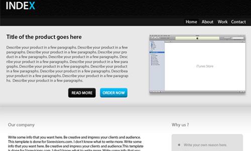 business template web design