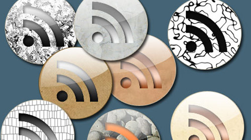 16 RSS round texture buttons