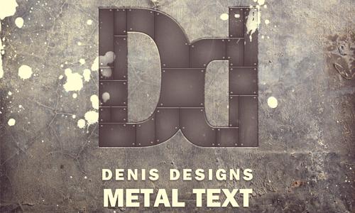metal text poster