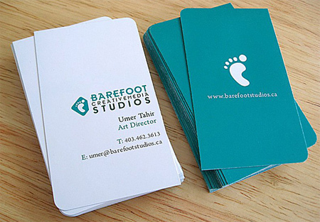barefoot business card