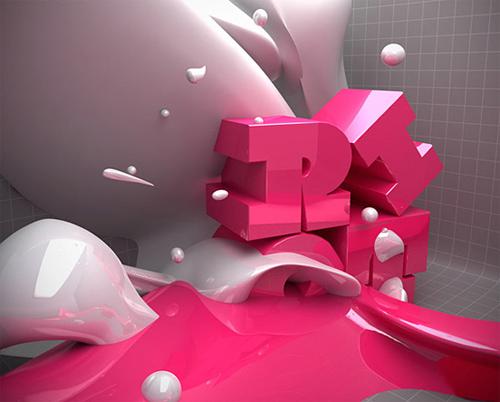 3d Typography Designs - Riot LP Pelease