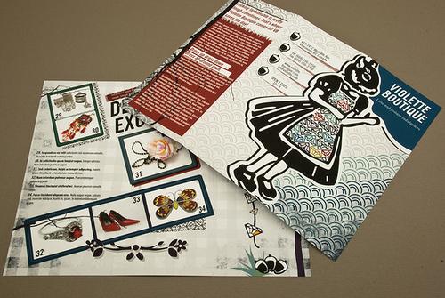 Brochure Design Examples - Illustrative Boutique Brochure
