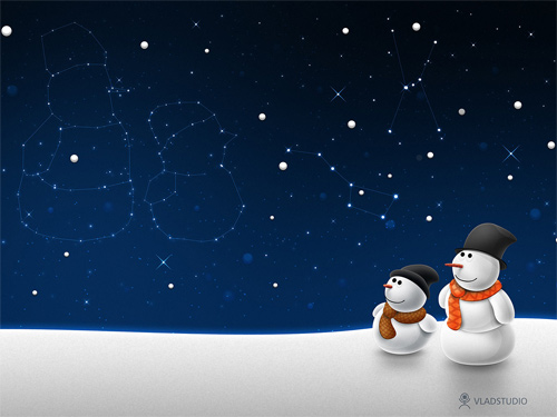 free christmas desktop wallpapers snow child