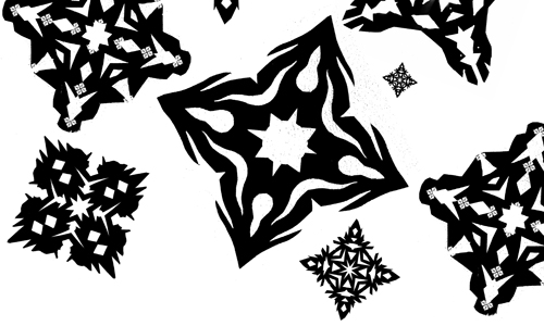 Christmas Brushes for Photoshop - Black and White Snowflake