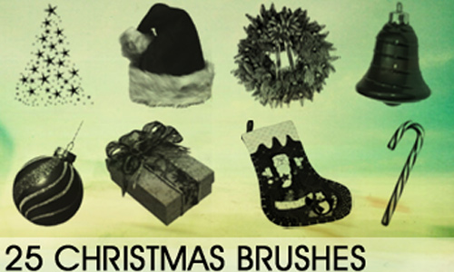 Christmas Brushes for Photoshop - Christmas Brush Collection