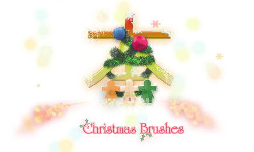 Christmas Brushes for Photoshop - Christmas Brushes by Lunatic
