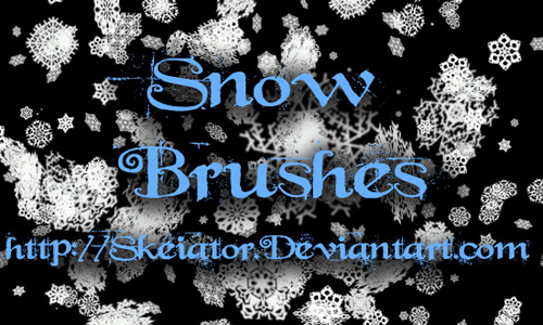 Christmas Brushes for Photoshop - Snow Brushes