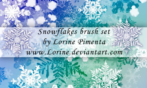 Christmas Brushes for Photoshop - Snow Flakes Brush Set