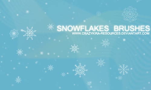 Christmas Brushes for Photoshop - Snowflakes Brushes