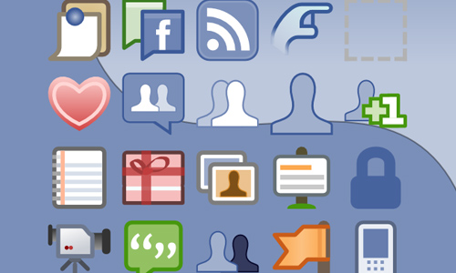 facebook icons vector
