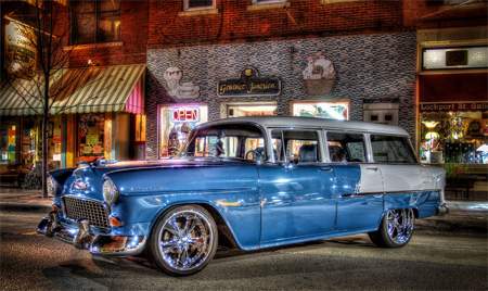 1955 chevy station wagon hdr