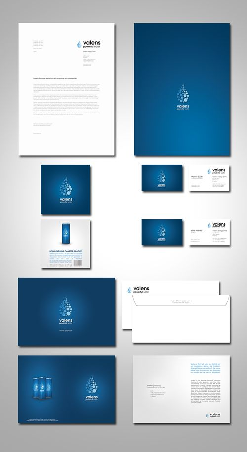valens energy drink identity - Letterhead Design Ideas