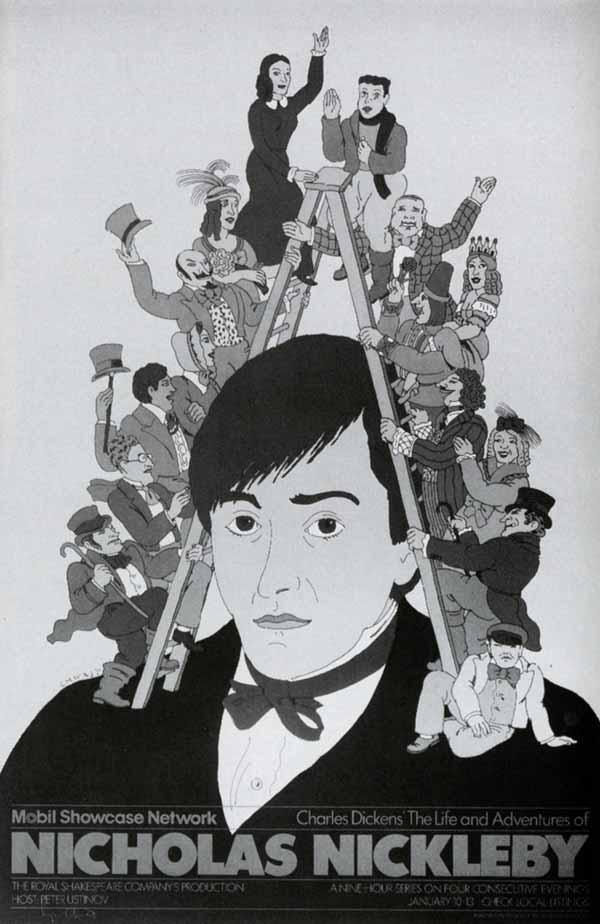 Nicholas Nickleby poster by Seymour Chwast via YouTheDesigner.com