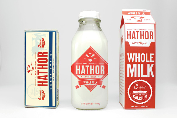 Hathor Creamery Packaging Design by Micheal Vilayvong via YouTheDesigner.com