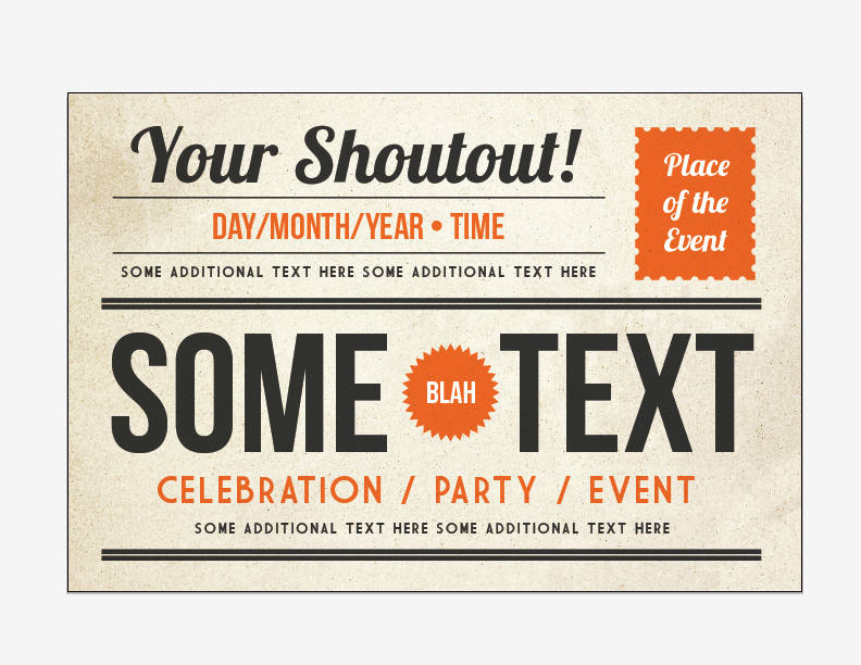 How to Make a Retro Style Event Postcard from Scratch – UCreative.com