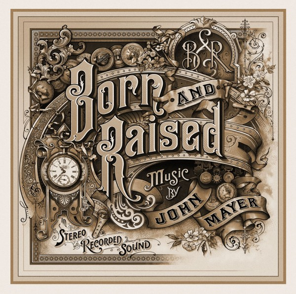 """Born and Raised"" Album Cover Design by David A. Smith via YouTheDesigner"