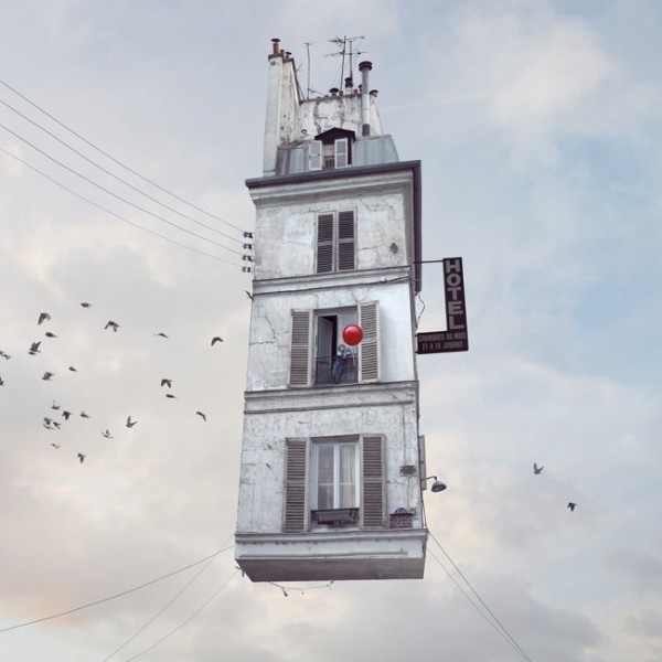 """Flying Houses"" by Laurent Chéhère"