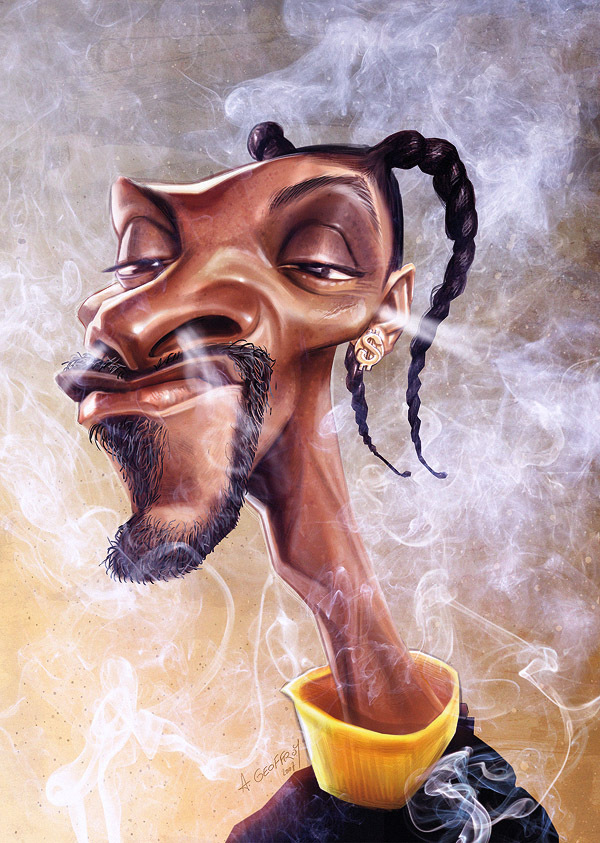 Snoop Dogg - caricature by Anthony Geoffroy