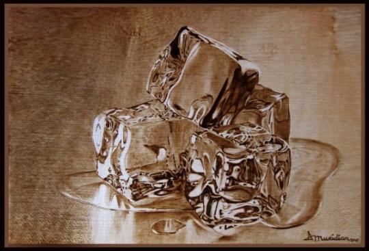 """Meltdown"" - pyrography by Muradino"