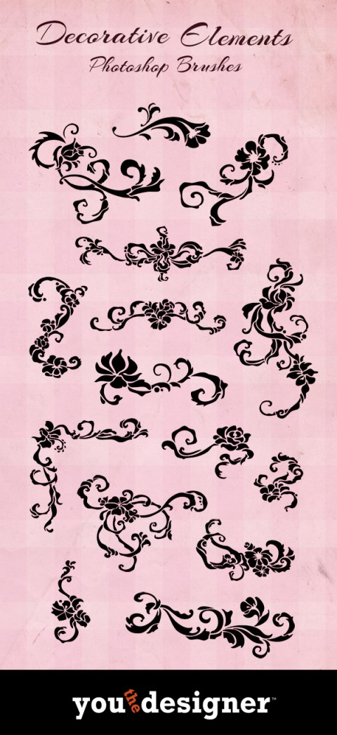 Decorative Element Photoshop Brushes by YouTheDesigner