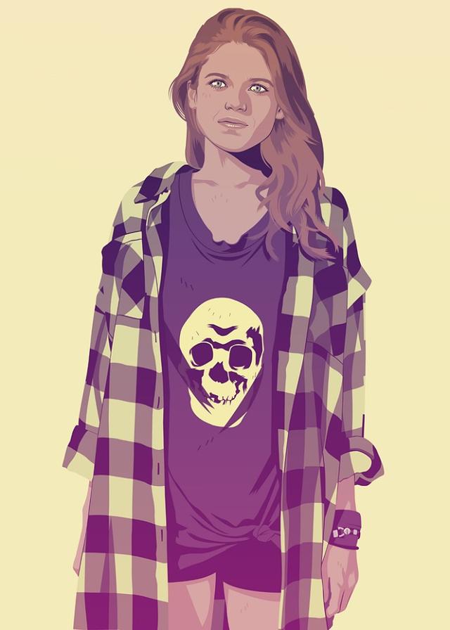 Ygritte | Illustration by Mike Wrobel